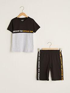 черно Комплект пижама