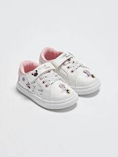 Minnie Mouse Lisanslı Cırt Cırtlı Kız Bebek Spor Ayakkabı