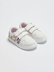 Minnie Mouse Cırt Cırtlı Kız Bebek Spor Ayakkabı