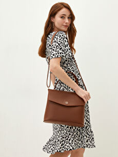 Leather Look Strappy Women Arm Bag