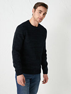 LCW CLASSIC Crew Neck Long Sleeve Men's Knitwear Sweater