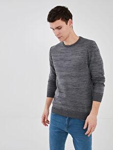 LCW CLASSIC Crew Neck Long Sleeve Patterned Men's Knitwear Sweater