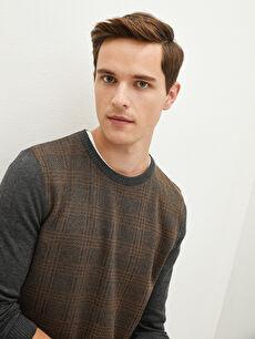 LCW CLASSIC Crew Neck Long Sleeve Slim Men's Knitwear Sweater