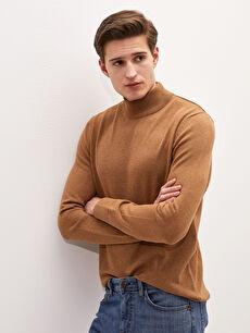 LCW BASIC Half Turtleneck Long Sleeve Men's Knitwear Sweater