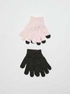 Girl's Gloves 2 Pieces