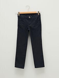 Slim Fit Gabardine Girl Trousers