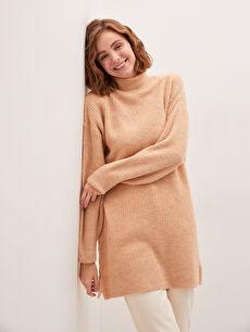 MODEST Half Turtleneck Straight Long Sleeve Knitwear Women Tunic