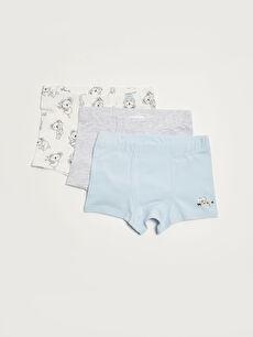 Printed Elastic Waist Baby Boy Boxer 3-pack