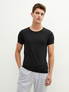 Crew Neck Short Sleeve Cotton Men's Undershirt