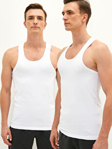 Crew Neck Basic Cotton Male Athlete in 2 Pieces
