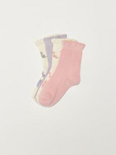 4-pack Baby Girl's Ankle Socks
