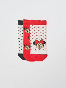 Minnie Mouse Printed Baby Girl Socks 3 Pieces
