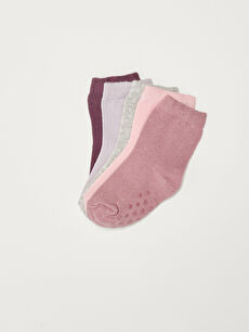 Basic Baby Girl Socks 5 Pieces