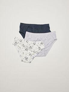 Elastic Waist Cotton Baby Boy Briefs 3 Pieces