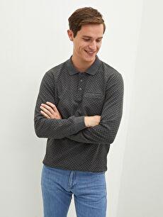 LCW CLASSIC Polo Neck Long Sleeve Men's Sweatshirt