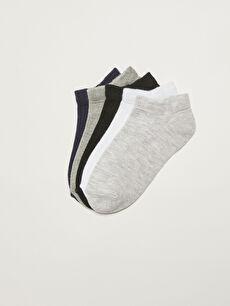 Basic Girls' Booties Socks 5 Pack