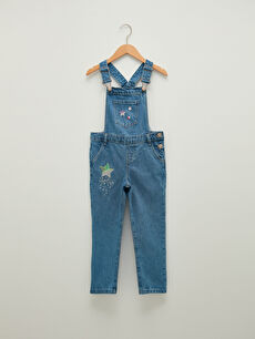 Embroidery Detailed Cotton Girl Jean Salopet