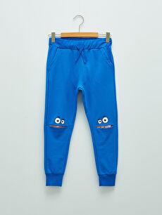 Elastic Waist Printed Boy Jogger Trousers