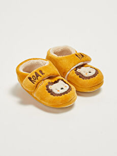 Embroidery Detailed Baby Boy House Shoes