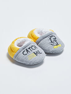 Embroidery Detail Baby Boy Pre-Toddler House Shoes