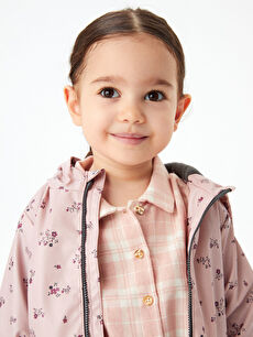 Long Sleeve Checked Patterned Baby Girl Shirt