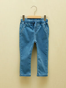 LCW GREEN Basic Baby Boy Jean Trousers With Elastic Waist