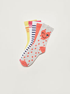 Patterned Girl Socks 5 Pieces