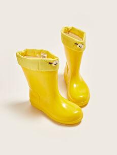 Elastic Lace Up Boys Rain Boots