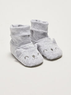 Embroidery Detail Baby Boy Pre-Toddler Socks House Shoes