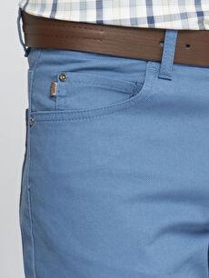 İndigo Normal Bel Dar Pilesiz Pantolon