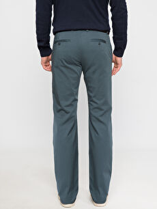 %97 Pamuk %3 Elastan Aksesuarsız Saten Normal Bel Dar Beş Cep Pantolon Düz Petrol Normal Bel Dar Pantolon