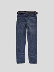 %100 Pamuk Dar İndigo Dar Jean