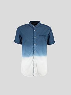 Gri Düz Dar Kısa Kollu LCW Young Gömlek