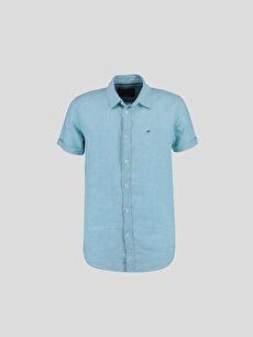 Yeşil Düz Kısa Kollu Gömlek