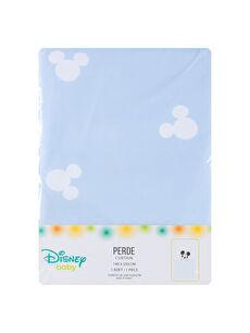 Mavi Mickey Erkek Bebek Perde