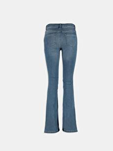 %76 Pamuk %22 Polyester %2 Elastan Normal Bel İndigo Normal Bel Jean