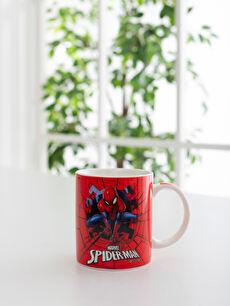 Kırmızı Erkek Çocuk Spiderman Baskılı Porselen Kupa