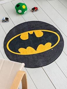 Siyah Erkek Çocuk Batman Baskılı Halı