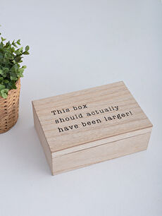 Kapaklı Ahşap Kutu