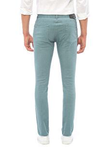 %98 Pamuk %2 Elastan Normal Bel Dar Beş Cep Pantolon Super Slim Gabardin Pantolon