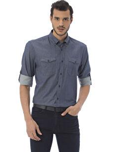 Düz Normal Uzun Kollu Gömlek