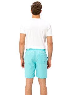%100 Polyester %100 Polyester  Diz Hizasında Standart Kalıp Deniz Şortu