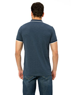 %62 Pamuk %38 Polyester Düz Kısa Kol Tişört Polo Dar Polo Yaka Kısa Kollu Pike Tişört