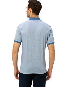 %100 Pamuk Standart Kısa Kol Tişört Polo Merserize Polo Yaka Tişört