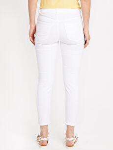 Kadın Paça Detaylı Bilek Boy Skinny Jean Pantolon