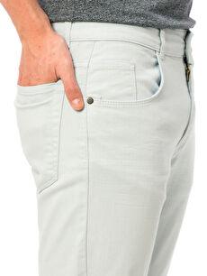 %98 Pamuk %2 Elastan Slim Gabardin Pantolon