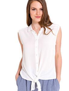 Önden Bağlamalı Viskon Gömlek