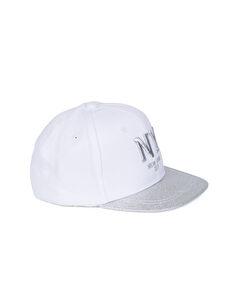 Beyaz Yazı İşlemeli Pamuklu Şapka 8S5716Z4 LC Waikiki