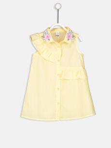 Kız Bebek Nakış Detaylı Poplin Elbise