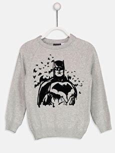 Erkek Çocuk Batman İnce Triko Kazak
